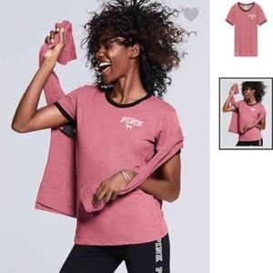 I'm selling this Soft Ringer Tee from PINK